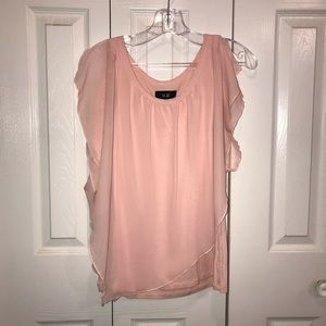 Blush pink flowy blouse